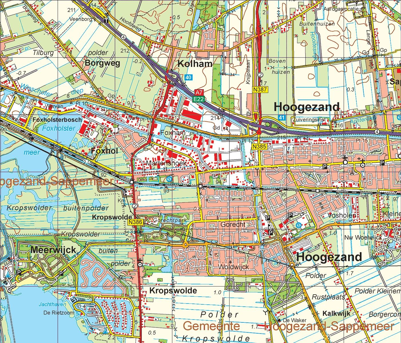 Digitale Provinciekaart Groningen 1:50.000
