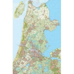 Digitale Provinciekaart Noord Holland 1:50.000