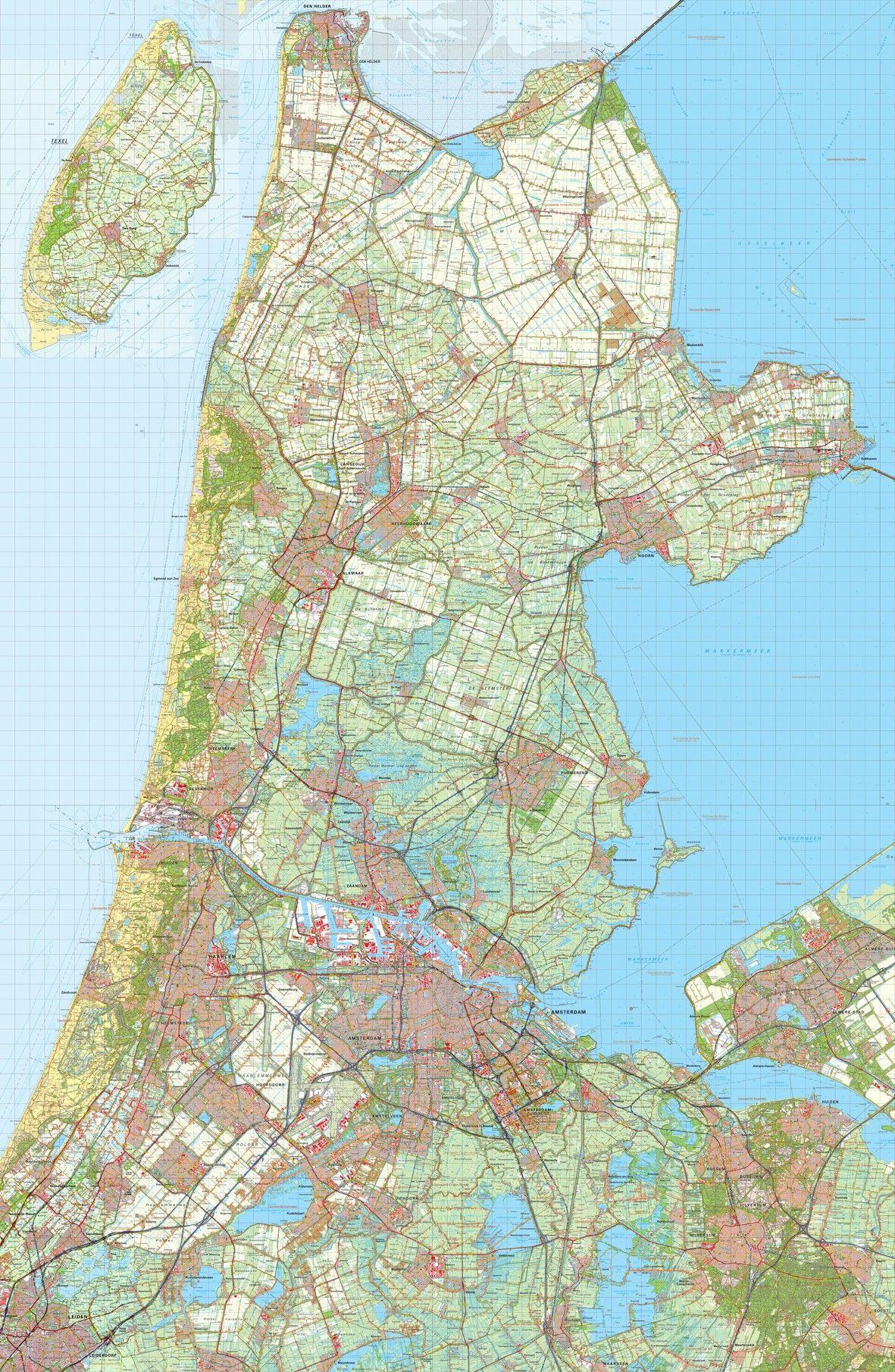 Digitale Provinciekaart Noord Holland 1:50.000