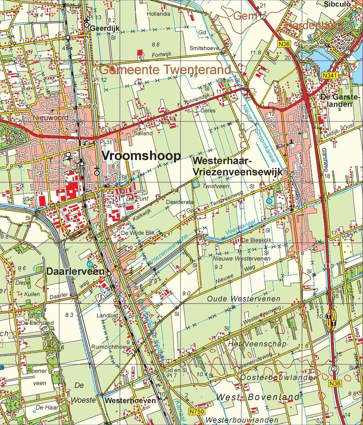 Digitale Provinciekaart Overijssel 1:50.000