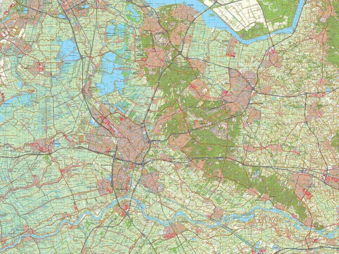 Digitale Provinciekaart Utrecht 1:50.000