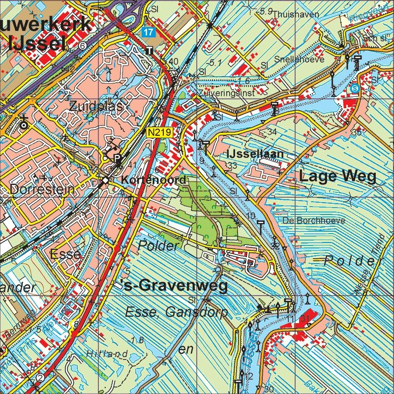 Digitale Provinciekaart Zuid Holland 1:50.000