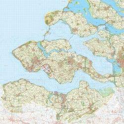 Digitale Provinciekaart Zeeland 1:50.000
