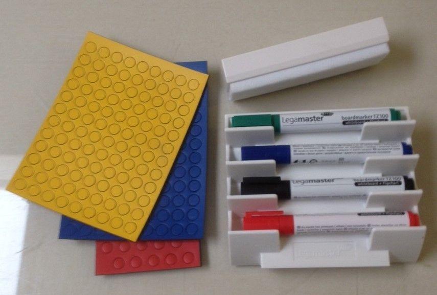 Startersset middel (3 set ronde magneten,1 set stiften,1 stiftenhouder en 1 borstel)