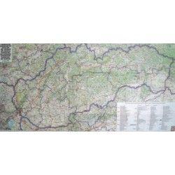 Landkaart Slowakije 1:400.000 met plaatsnamenindex