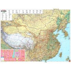 Landkaart China 1:4.000.000