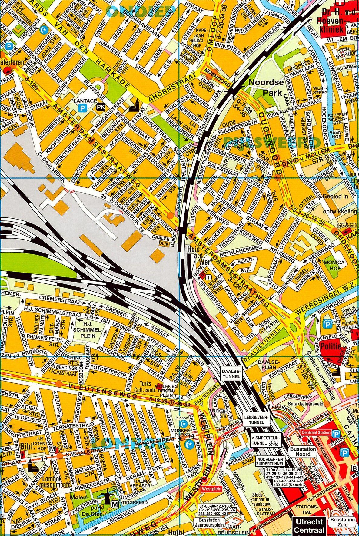 Stadsplattegrond Utrecht 1:12.500