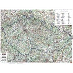 Landkaart Tsjechie 1:400.000 met plaatsnamenindex