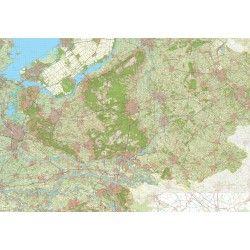 Digitale Provinciekaart Gelderland 1:50.000