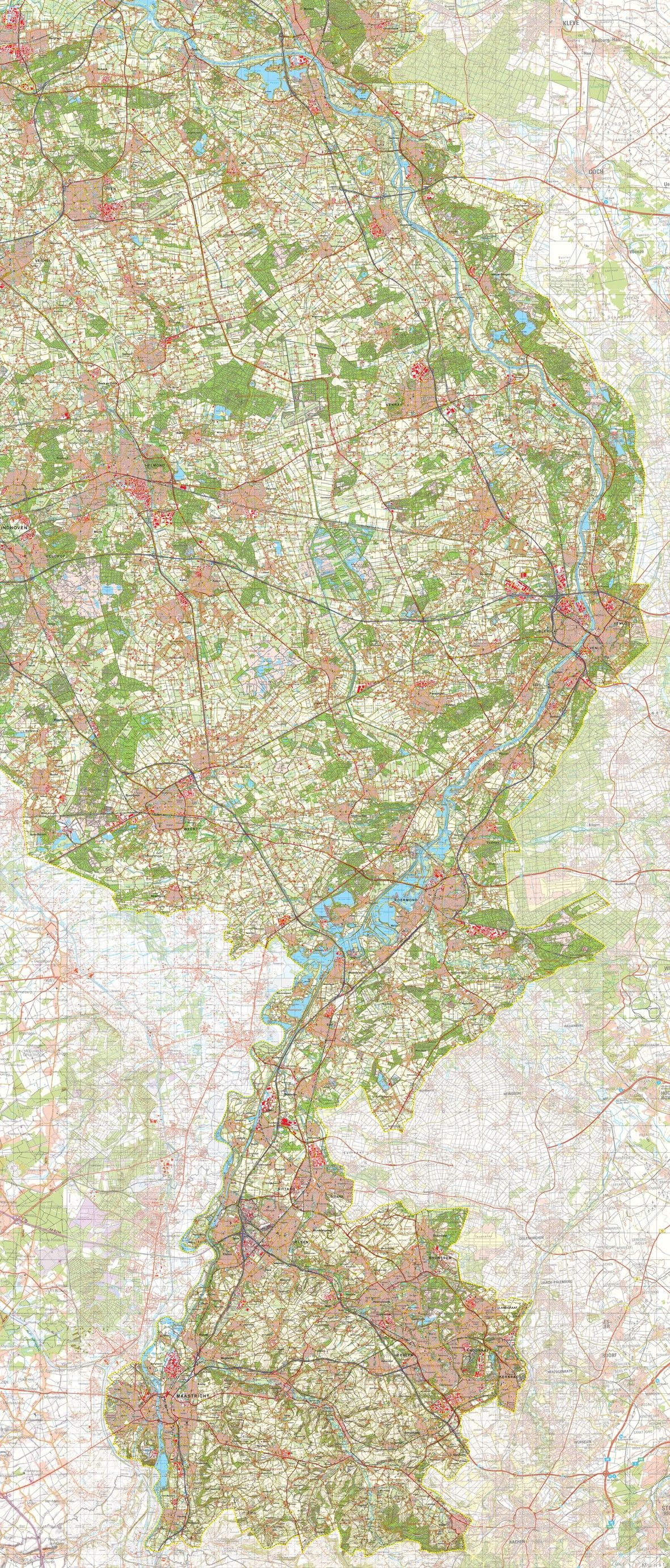 Digitale Provinciekaart Limburg 1:50.000
