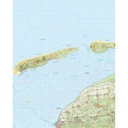 Topografische kaart schaal 1:50.000 (Terschelling,Franeker,Harlingen)