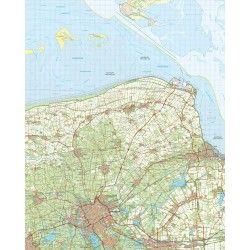 Topografische kaart schaal 1:50.000 (Delfzijl,Winsum,Groningen)