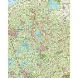 Topografische kaart schaal 1:50.000 (Leeuwarden,Drachten,Joure,Heerenveen)