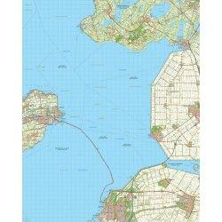 Topografische kaart schaal 1:50.000 (Enkhuizen,Lemmer,Emmeloord,Lelystad,Dronten)