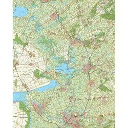 Topografische kaart schaal 1:50.000 (Emmeloord,Wolvega,Steenwijk,Meppel,Zwolle)