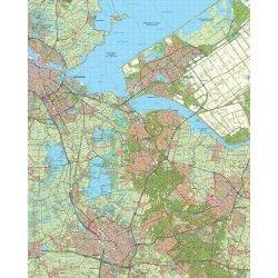 Topografische kaart schaal 1:50.000 (Amsterdam,Almere,Hilversum,Amersfoort,Utrecht)