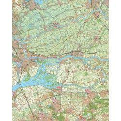 Topografische kaart schaal 1:50.000 (Gouda,Utrecht,Dordrecht,Gorinchem,Oosterhout)