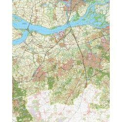 Topografische kaart schaal 1:50.000 (Dordrecht,Moerdijk,Breda,Etten-Leur,Roosendaal)