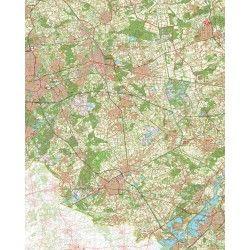 Topografische kaart schaal 1:50.000 (Eindhoven,Helmond,Venray,Weert,Roermond)