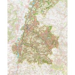 Topografische kaart schaal 1:50.000 (Sittard,Geleen,Heerlen,Maastricht,Valkenburg)