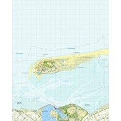 Topografische kaart schaal 1:25.000 (Schiermonnikoog, Paesens, Lauwersoog, Marnehuizen)