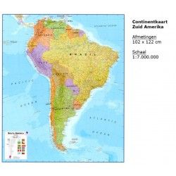 Continentkaart Zuid-Amerika Maps International 1:7.000.000