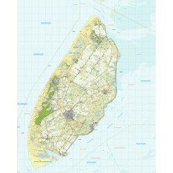Topografische kaart schaal 1:25.000 (Texel)