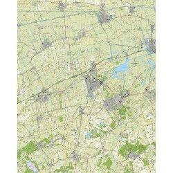 Topografische kaart schaal 1:25.000 (Zuidhorn, Leek, Grijpskerk, Roden, Norg, Marum)