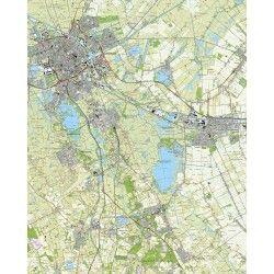Topografische kaart schaal 1:25.000 (Groningen, Haren, Eelde, Hoogezand-Sappemeer, Zuidlaren)