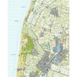 Topografische kaart schaal 1:25.000 (Schagen, Alkmaar, Heerhugowaard, Bergen, Warmenhuizen)