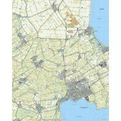 Topografische kaart schaal 1:25.000 (Middenmeer, Medemblik, Hoorn, Obdam, Hoogwoud)