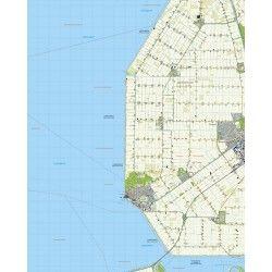 Topografische kaart schaal 1:25.000 (Urk, Emmeloord, Creil, Tollebeek, Nagele, Bant)