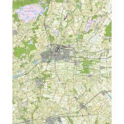 Topografische kaart schaal 1:25.000 (Hoogeveen, Zuidwolde, Dedemsvaart, Slagharen, de Krim)
