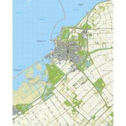 Topografische kaart schaal 1:25.000 (Lelystad, Almere)